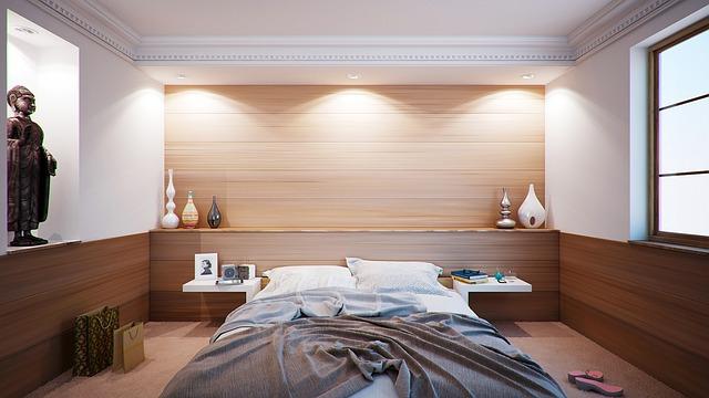 1LDKの寝室レイアウト